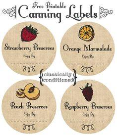 FREE Printable Mason Jar Canning Labels