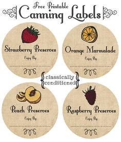 FREE Printable Mason Jar Canning Labels