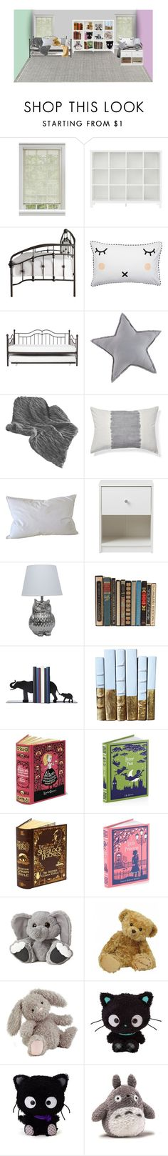 """""""A Room For Two"""" by annesuniverse ❤ liked on Polyvore featuring interior, interiors, interior design, home, home decor, interior decorating, Inspire Q, Natural Comfort, Jellycat and Hello Kitty"""