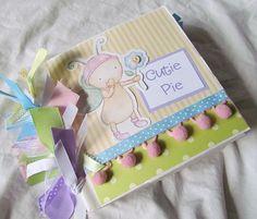 baby girl CUTIE PIE premade PaPeR BaG Scrapbook Album