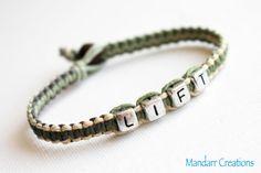 Camo Lift Bracelet Fitness Motivation Jewelry by MandarrCreations