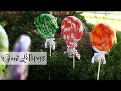 Transform your house into a gingerbread house for Christmas with these GIANT lollipops made with pool noodles. This is an easy Christmas decor DIY project.