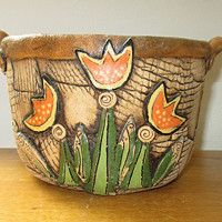 Prodané zboží od Keramika Javorník | Fler.cz Ceramic Planters, Planter Pots, Potted Plants, Flower Pots, Container, Pottery, Clay, Ceramics, Handmade Pottery