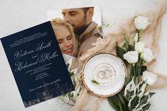 Modern wedding invitation template Modern Wedding Invitations, Wedding Invitation Templates, Printable Invitations, Nyc Skyline, My Design, My Etsy Shop, City, Wedding Invitation Design
