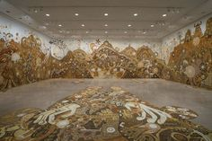 A New Large-Scale Mud Mural by Yusuke Asai at Rice Gallery