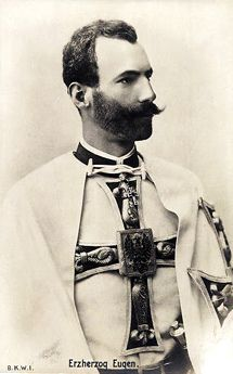 Archduke Eugen of Austria-Teschen as Master of the Teutonic Order of Knights.