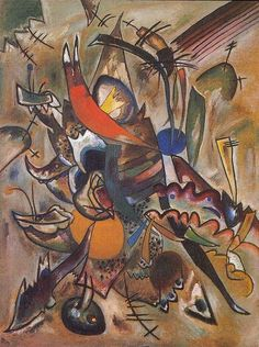 """Wassily Kandinsky - """"Composition #223 (picture with tops)"""", 1919"""