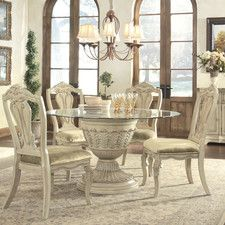White Formal Dining Room Sets antique white dining room sets | coronado round antique white