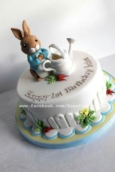 Rabbit Cake Decorating Ideas Best Of Peter Rabbit Cake Cake by Zoe S Fancy Cakes. Pretty Cakes, Cute Cakes, Beautiful Cakes, Amazing Cakes, Peter Rabbit Cake, Peter Rabbit Birthday, Beatrix Potter Cake, Zoes Fancy Cakes, Novelty Cakes