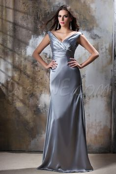 Dresswe.com SUPPLIES Luxurious Ruched A-Line V-Neck Floor-Length Taline's Bridesmaid Dress 2013 Bridesmaid Dresses