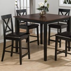 wal-mart Jofran Burly 5 Piece Counter Height Dining Table Set 493.35