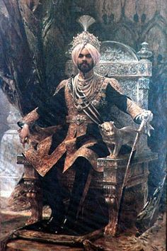 The Sikh Maharaja of Patiala, India. Vintage India, Royal Indian, History Of India, We Are The World, Blue Bloods, Patiala, Incredible India, Character Inspiration, Steampunk