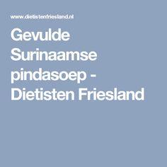 Gevulde Surinaamse pindasoep - Dietisten Friesland
