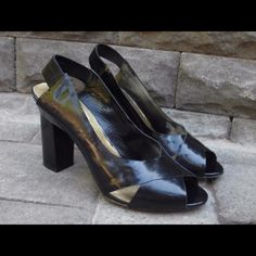 Vince Camuto Fiona Black High Heels Shoes Very Nice Vince Camuto Fiona style Open Toe Strappy High Heel Shoes. Excellent pre-owned condition with some wear to the sole. Vince Camuto Shoes Heels