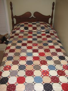 """ Made Especially for you by Gamma"" My mom has been making quilts for her grandchildren. Wilson received his quilt about a month ago and . Red And White Quilts, Blue Quilts, Scrappy Quilts, Quilting Templates, Quilting Ideas, Quilt Patterns, Snowball Quilts, Crumb Quilt, Snowman Quilt"