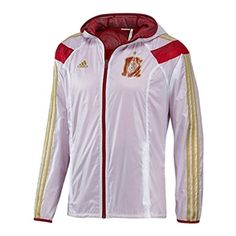 95440ef6236a 66.95 - Adidas Spain Woven Anthem Jacket (White Craft Red Victory Red)