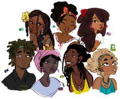 Black Girl Art, Black Women Art, Art Girl, Character Drawing, Character Illustration, Arte Black, Natural Hair Art, Black Art Pictures, Black Characters