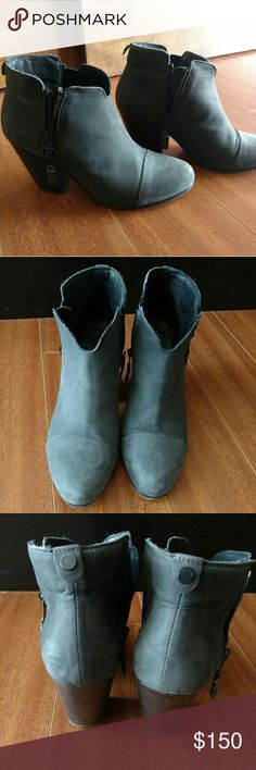 Rag and Bone Margot Bootie sz. 39.5 Dark gray suede Margot bootie, great condition. Comes with original duster bag. Small scratch on the left back heel. Clean otherwise. It's. 39.5 but fits my 8.5 size feet with room for a cushion or thicker socks. rag & bone Shoes Ankle Boots & Booties