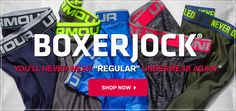 "BOXERJOCK® YOU'LL NEVER WEAR ""REGULAR"" UNDERWEAR AGAIN® SHOP NOW"