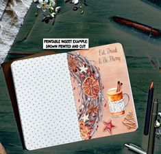 Christmas Dashboard A6 Foxy + B6 Foxy, 2 PRINTABLE Traveller's Inserts, Winter Travellers Notebook Dashboard Instant Planner A6 + B6 Insert