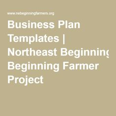 Agricultural business plans