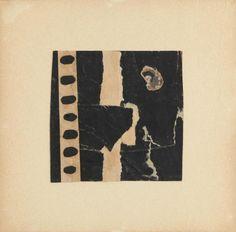 MIMMO Rotella    Senza titolo, 1958-60 décolaage,cm. 12,5x12,5