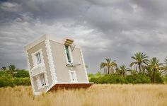 """""""Fallen from the Sky"""" _ upside-down house"""