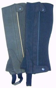 Clarino Adult Half Chaps with Contrast Piping | HorseLoverZ