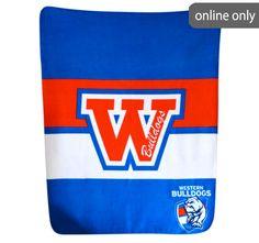 afl-team-logo-polar-fleece-printed-throw-western-bulldogs Western Bulldogs, Quilt Cover Sets, Polar Fleece, Team Logo, Manchester, Printed, Logos, Accessories, Duvet Cover Sets