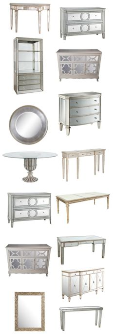 Mirrored furniture and accessories, ends Tuesday