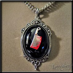 Bloody Cleaver Necklace by Horribell    http://www.angryyoungandpoor.com/store/pc/viewPrd.asp?idproduct=204937=442