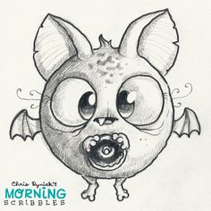 Artist Chris Ryniak - morning scribbles - cute monster art