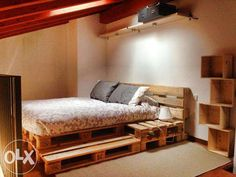Изготовление мебели из поддонов паллет Кровать Тумбочка Подставка Киев - изображение 2
