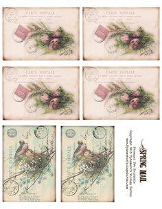 Ephemera's Vintage Garden: Free Printable - Spring/Easter Postcard Set