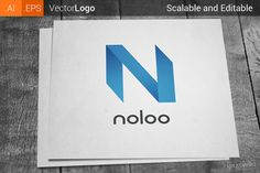 Letter N Company Logo by Krukowski on Creative Market