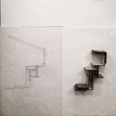 hjemmeopgave fra Arkitektskolen, arkitekt- og designskolen, tegneøvelser Arkitekturkurset designkurset