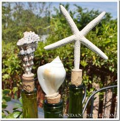 Shell Bottle Stoppers-  Make your own for nearly nothing! (Click pic to see how)