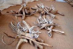 τηλ παραγγελίας 6976773699..Wedding centerpieces driftwood .... επιτραπέζιες συνθέσεις από θαλασσοξυλα για τραπέζια δεξίωσης γάμου και βάπτισης..... Stuffed Mushrooms, Stuff Mushrooms