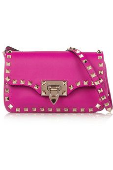 Valentino The Rockstud leather shoulder bag | NET-A-PORTER
