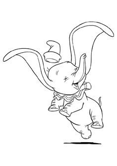 Print Out Coloring Pictures Disney Dumbo Happy