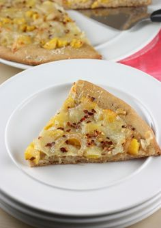Acorn Squash and Roasted Garlic Pizza - Use a gluten free crust for the base of this.