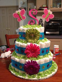 Baby Sophie's diaper cake!!