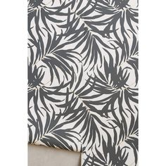 Anthropologie Frond Silhouette Wallpaper ($78) ❤ liked on Polyvore featuring home, home decor, wallpaper, carbon, anthropologie, paper wallpaper, anthropologie home decor, removable wallpaper and anthropologie wallpaper