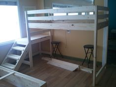 Loft Bed - steps can be placed either side - FULL SIZE $375