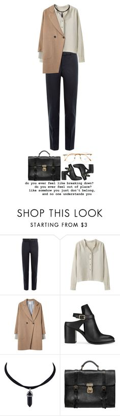"""#126"" by ghvstly ❤ liked on Polyvore featuring The Kooples, Margaret Howell, Band of Outsiders, Miss Selfridge, Dolce&Gabbana, Persol, vintage, ootd, retro and airportstyle"