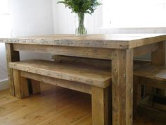 10ft x 3ft rustic table £1190 Bench to fit under £460 www.eatsleeplive.co.uk