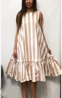 I like this dress but I think in black and white or green and white, not this weird cream color Lovely Dresses, Simple Dresses, Casual Dresses, Short Dresses, Fashion Dresses, Summer Dresses, Linen Dresses, Cotton Dresses, Mode Kimono