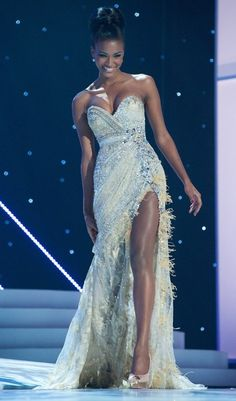 leila-lopes! She's gorgeous that dress is gorgeous I'm in love ♡
