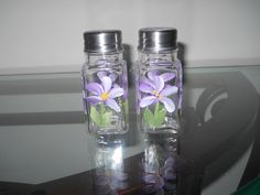 Purple Violet Salt and Pepper by FromMyBrush on Etsy, $7.00