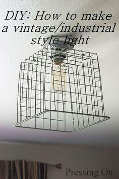diy industrial decor projects | DIY Industrial Ceiling Light